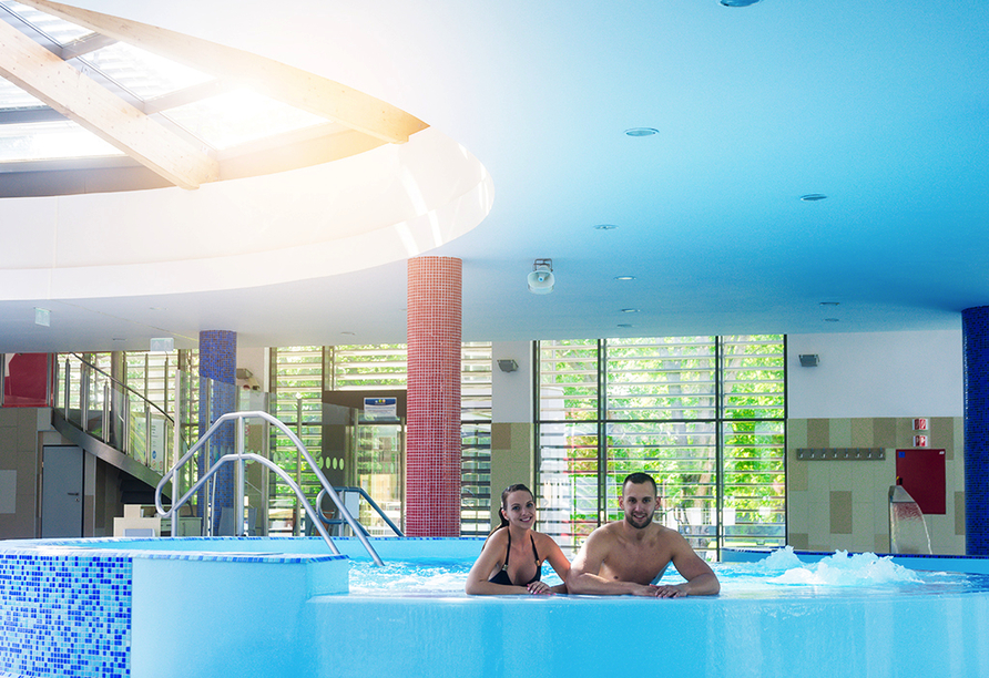 Thermal Hotel Balance in Lenti, Whirlpool in der Therme Lenti