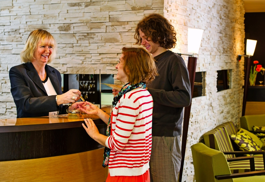 Hotel Storck in Bad Laer, Empfang